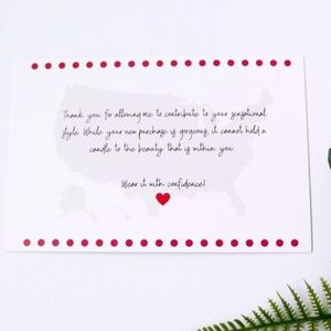 20 IG Love 4x6 thank you card stock